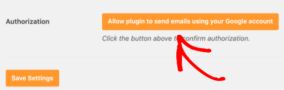 Authorize plugin to send emails with Gmail