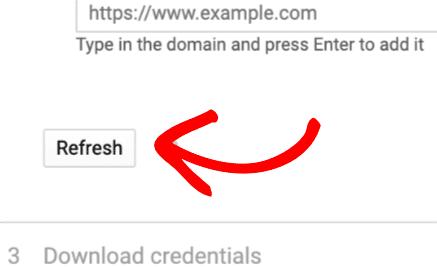 Click Refresh button