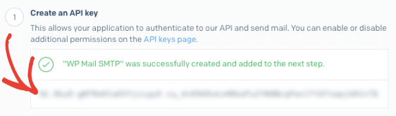 Copy the SendGrid API key