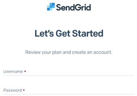 Create a new SendGrid account