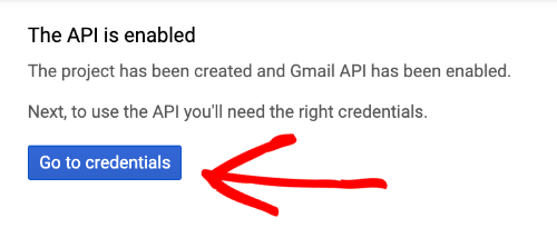 Gmail API is enabled