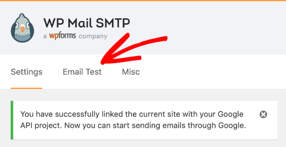 Gmail connection success with WP Mail SMTP