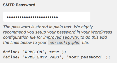 Instructions to save password more securely