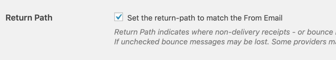 Set return path to match From Email