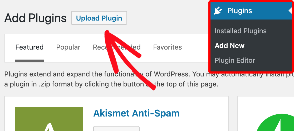Upload plugin in WordPress