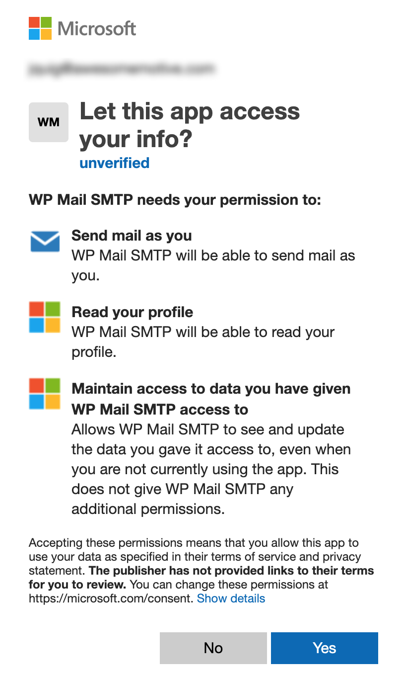 Microsoft permissions request form