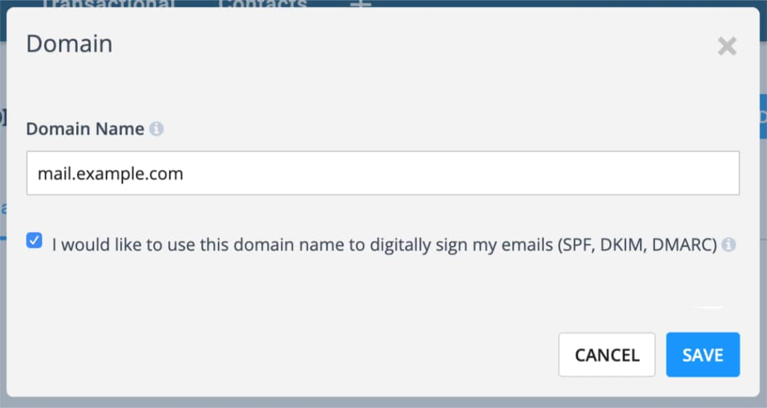 Add subdomain for mailing