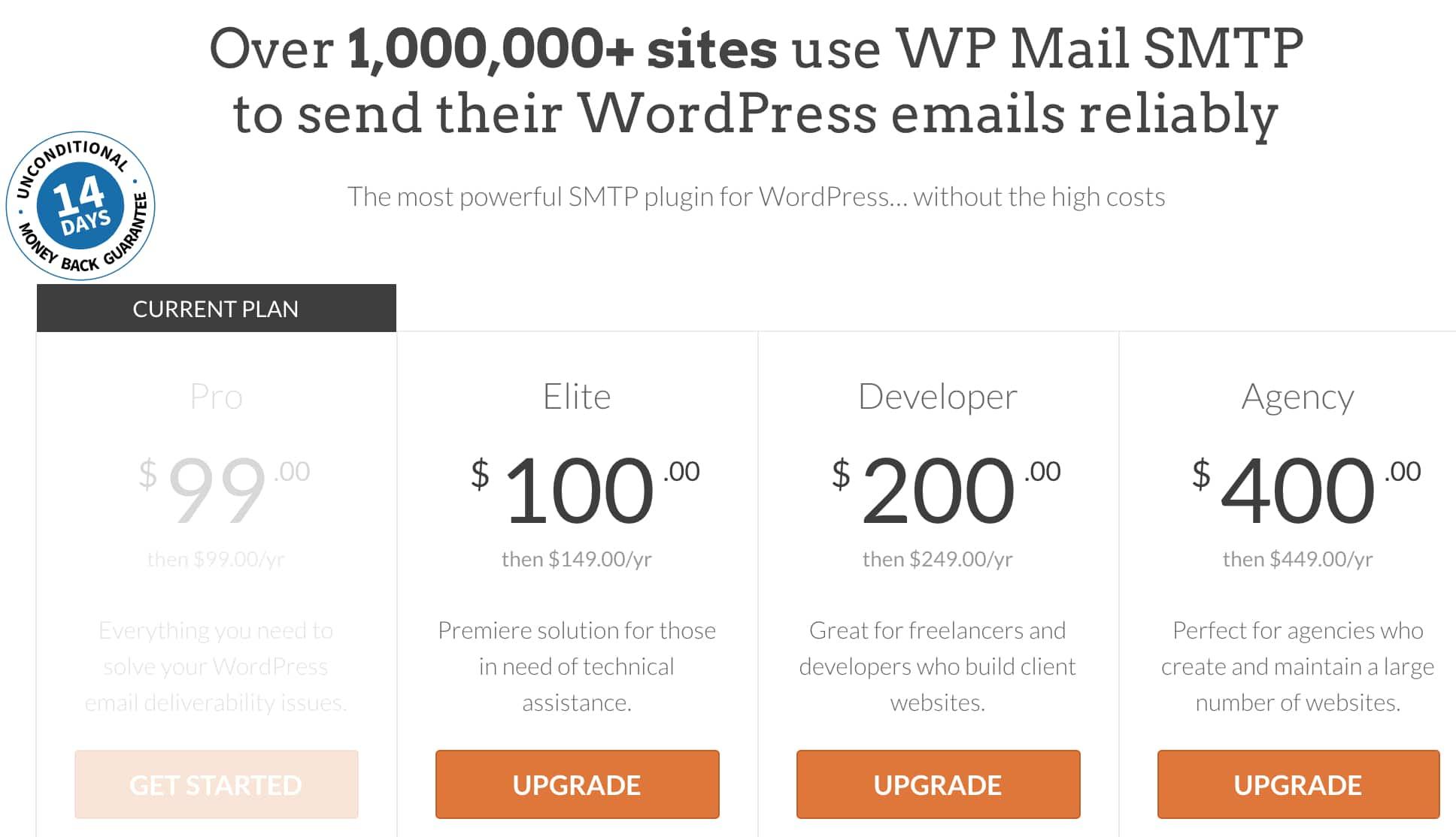 Upgrade WP Mail SMTP license