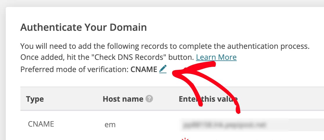 Switch preferred mode of verification in Pepipost