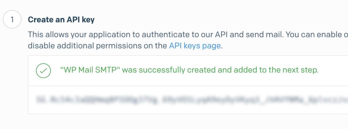 API key for SendGrid account