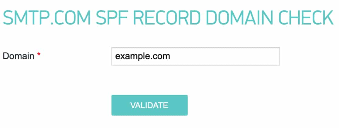 Check SPF records for domain