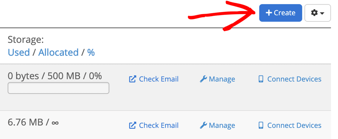 Create new email mailbox on Bluehost