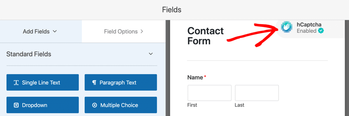 Use hCaptcha to stop contact form spam