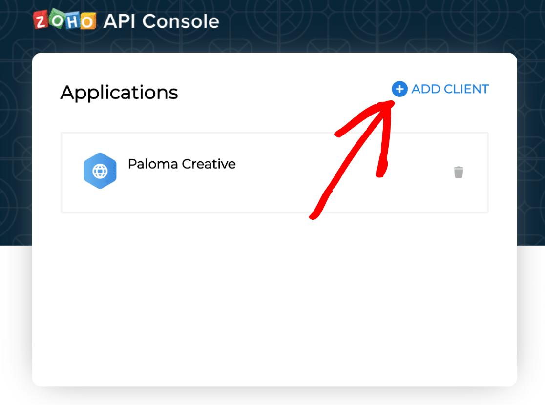 Add Client Zoho API