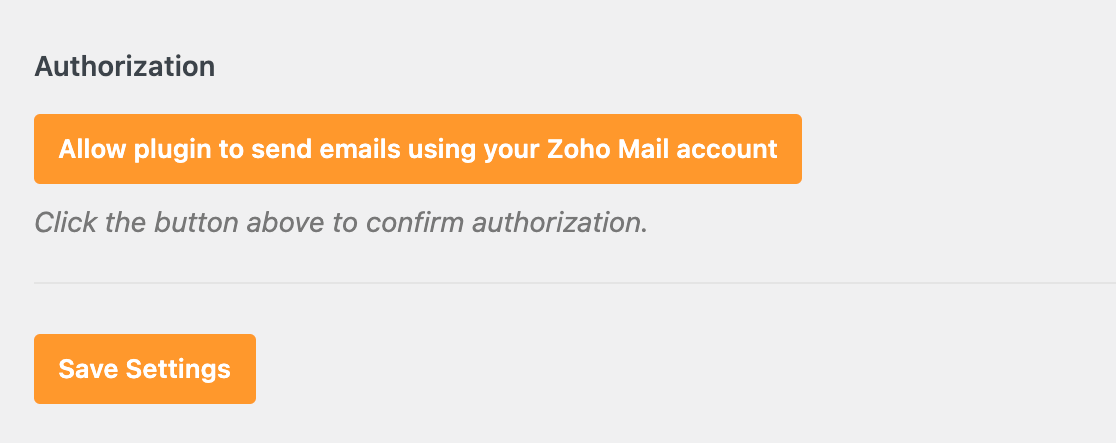 Authorizing WP Mail SMTP to connect to your Zoho account