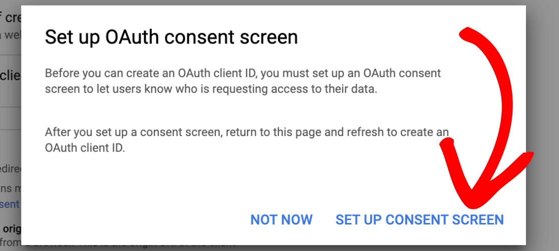 Open OAuth consent screen