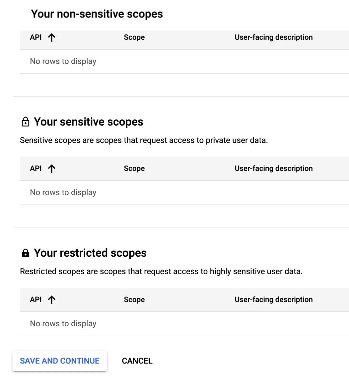 Scope Settings in Gmail