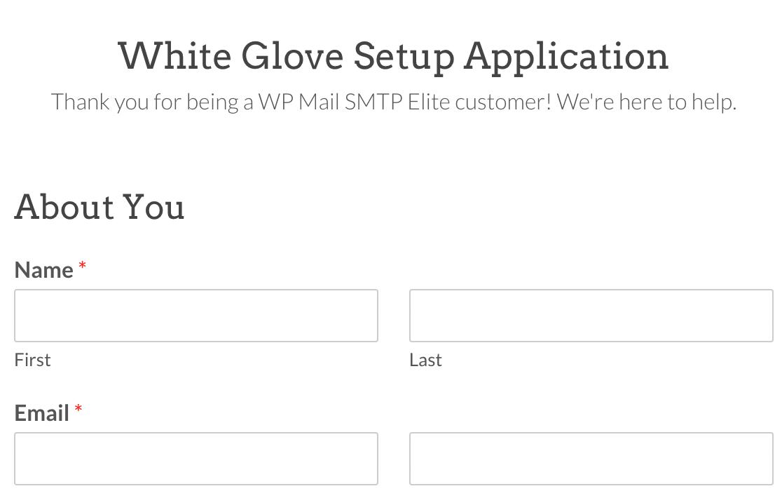 The White Glove Setup application