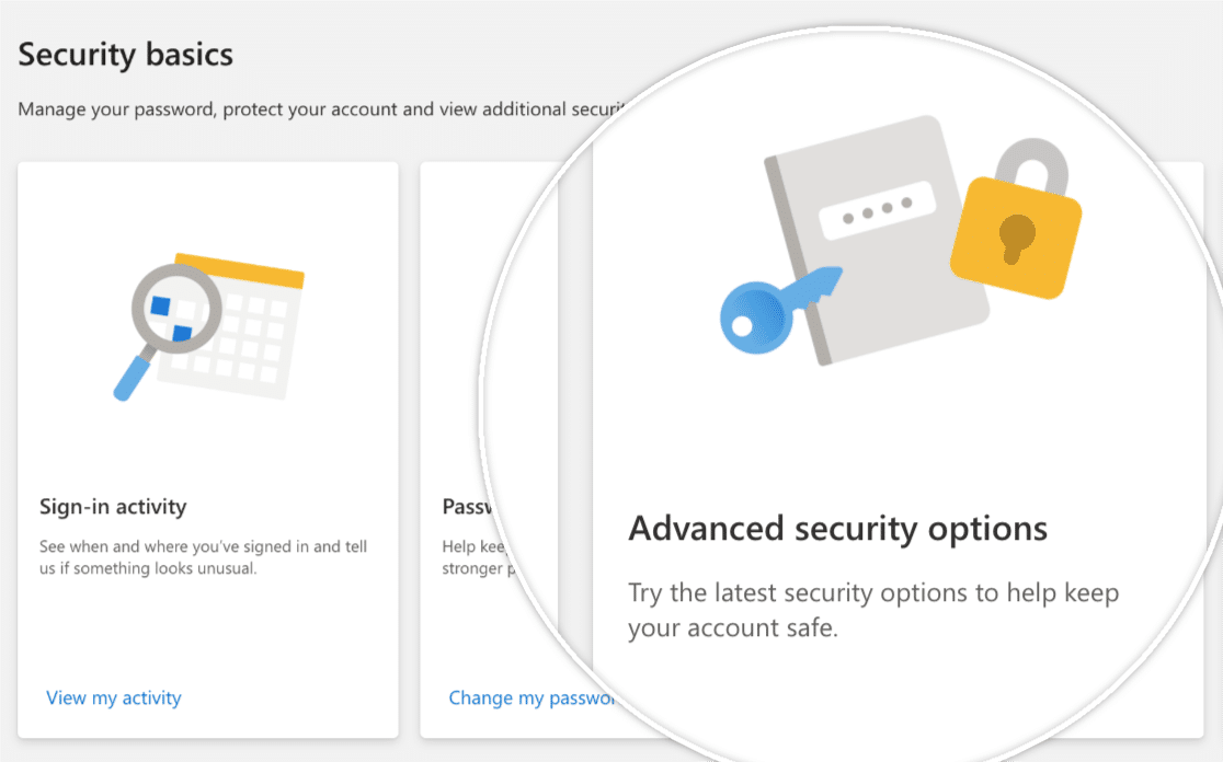 Advanced Security Options in Microsoft