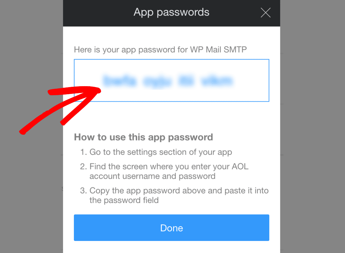 App Password for WP Mail SMTP