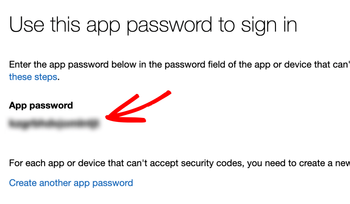 App Password in Microsoft