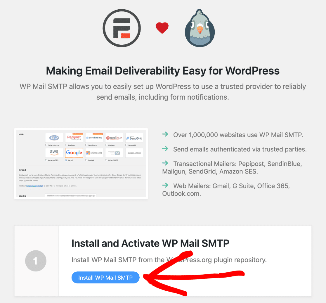 formidable forms wp mail smtp