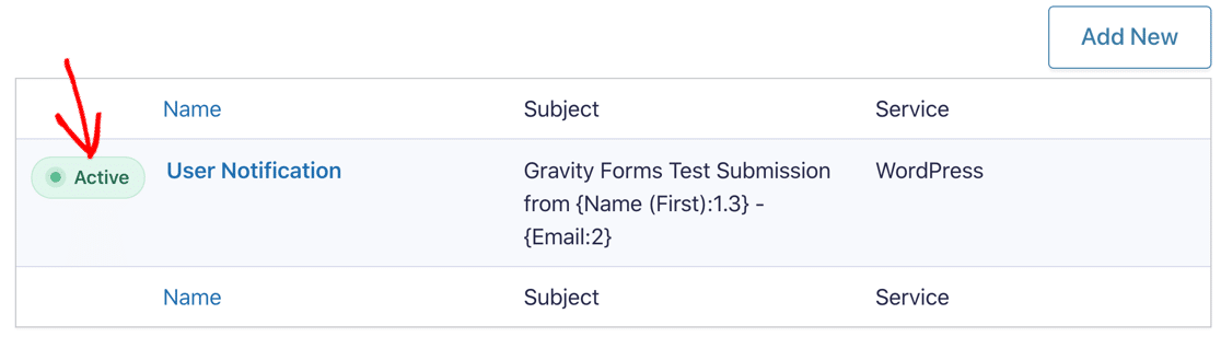 Gravity Forms version 2.5 active notification