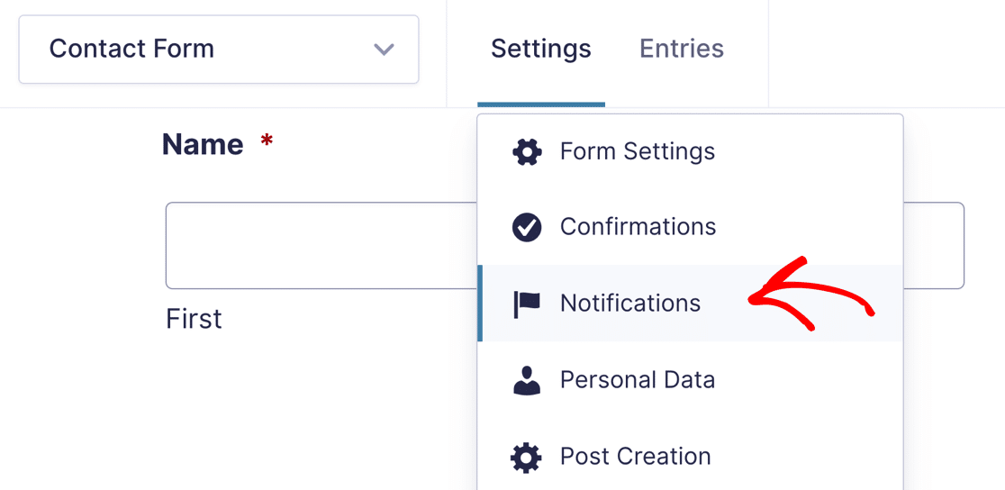 Gravity Forms 2.5 notifications