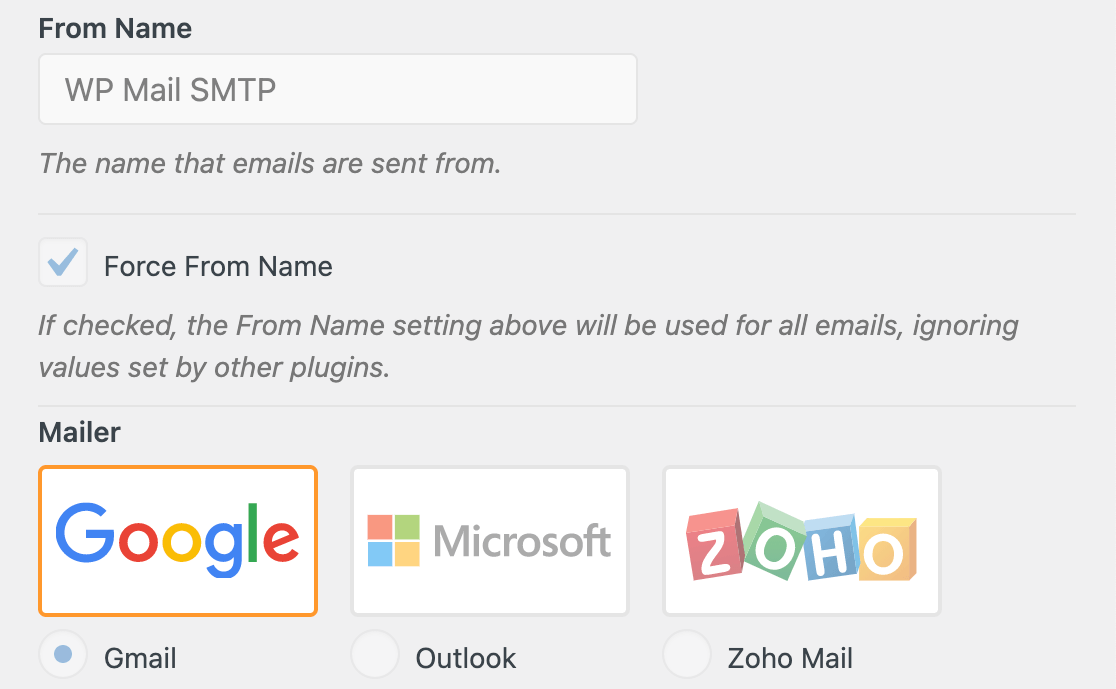 WP Mail SMTP settings defined by constants grayed out in the Settings page