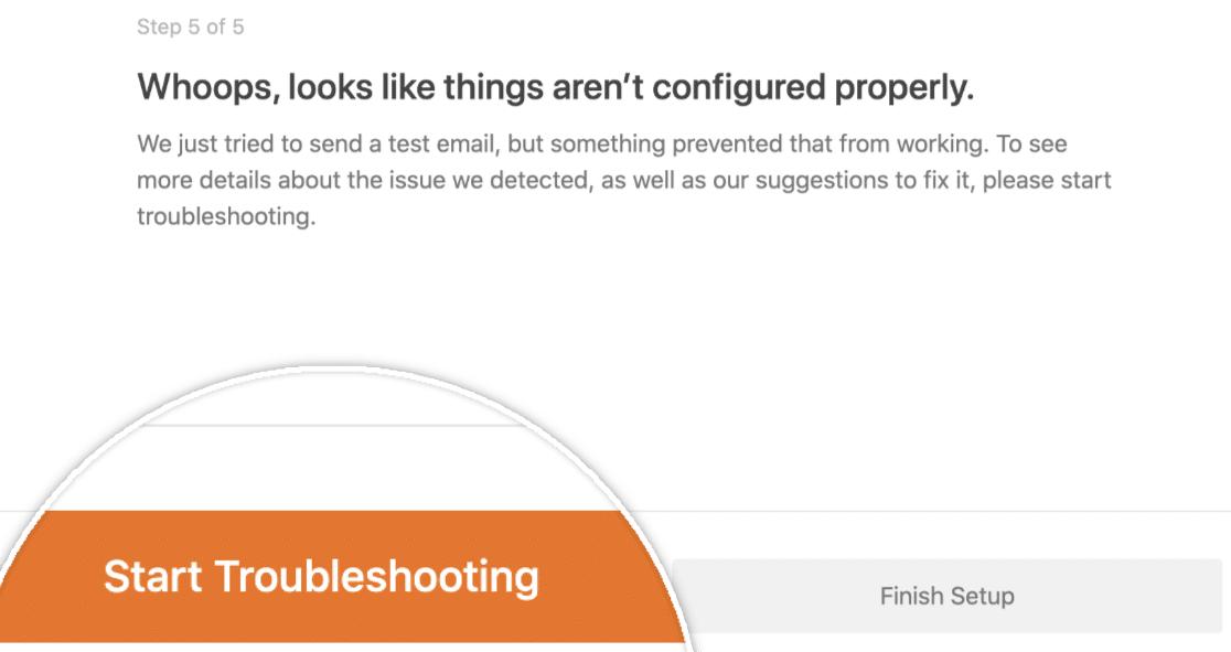 Start Troubleshooting