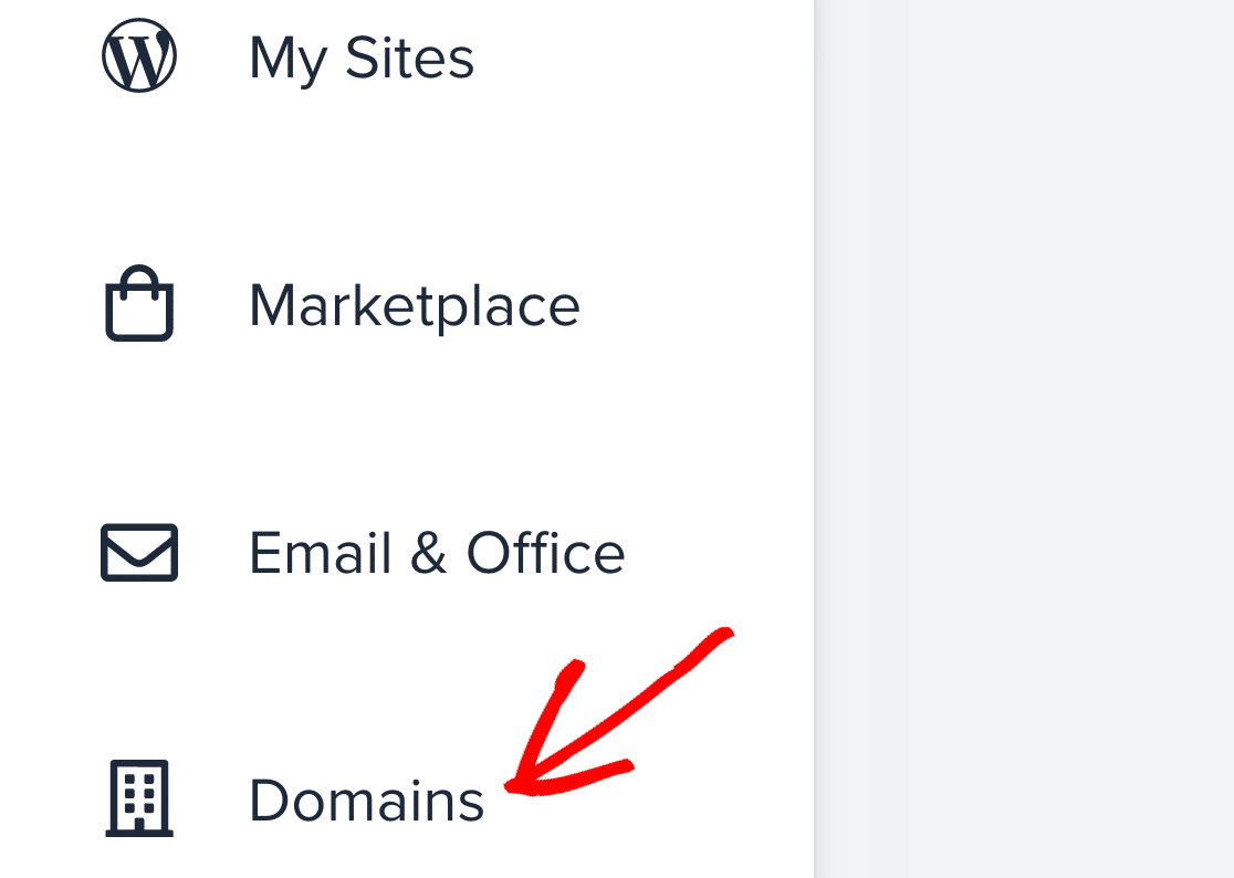 Edit Bluehost domains