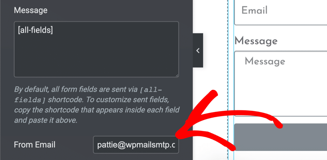 Change the From Name if Elementor contact form not sending email