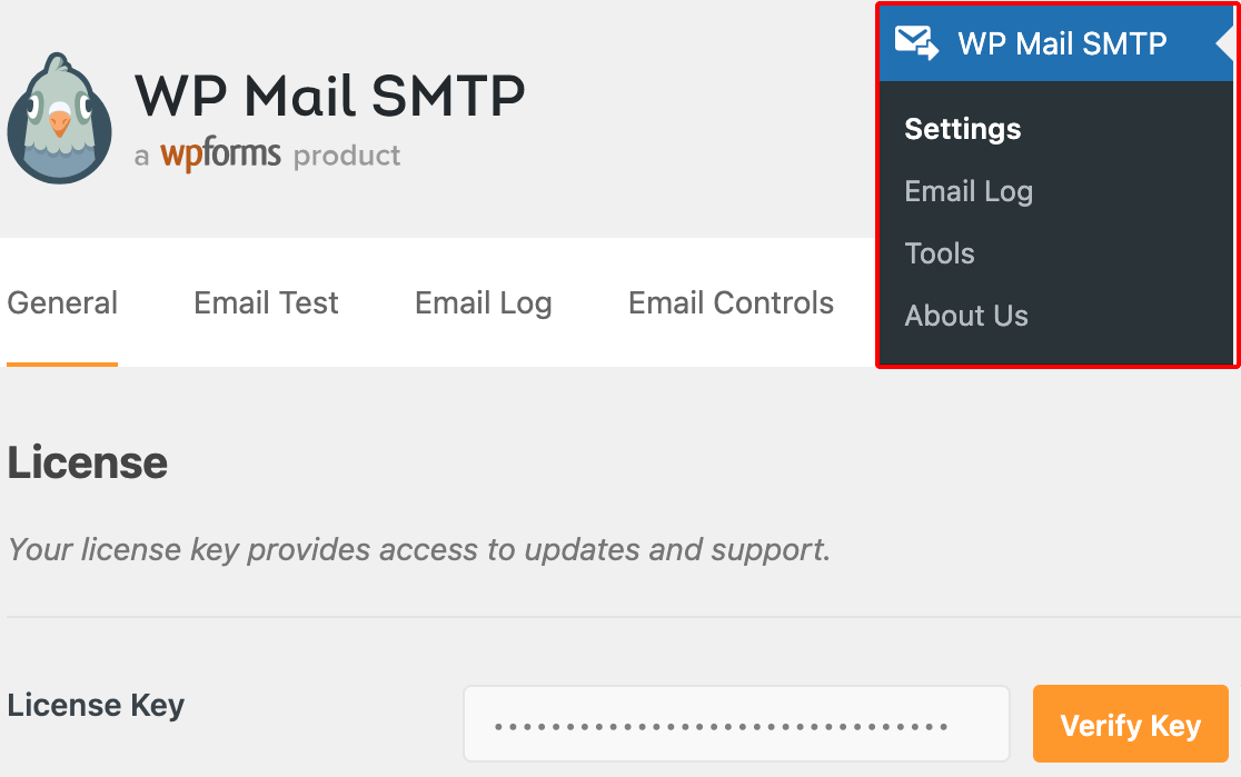 The WP Mail SMTP settings page