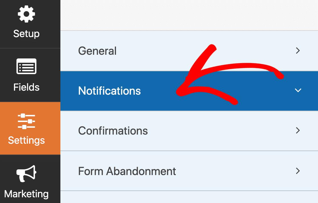 Edit WPForms notifications