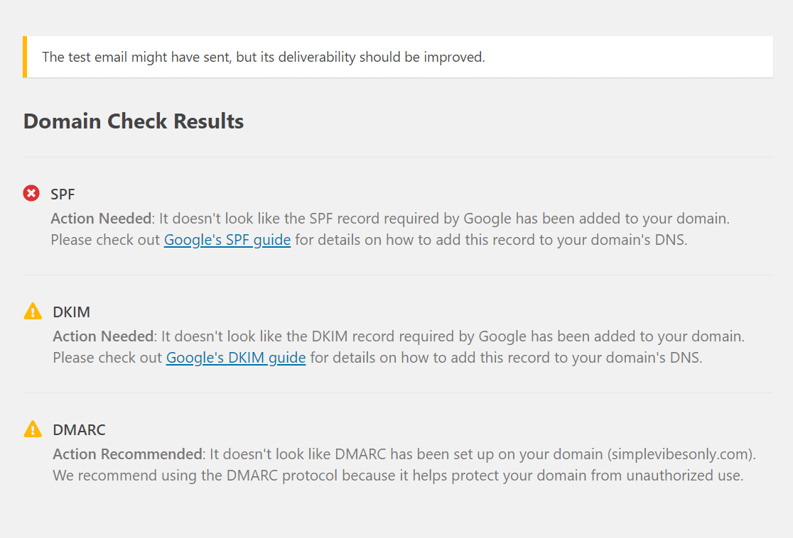 wpmailsmtp domain check results (1)