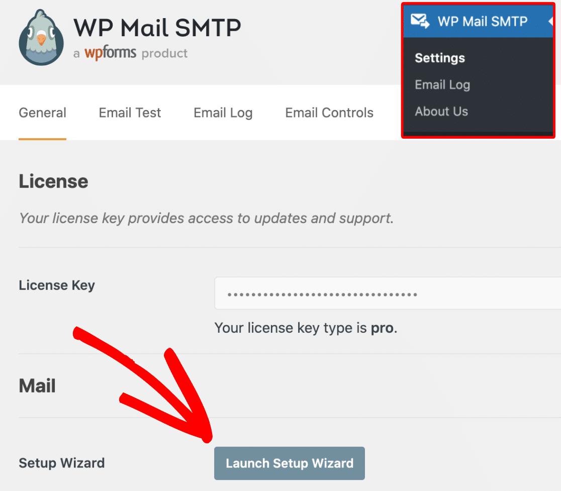 Start SMTP Setup Wizard