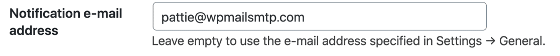 Change email address for Broken Link Checker notifications