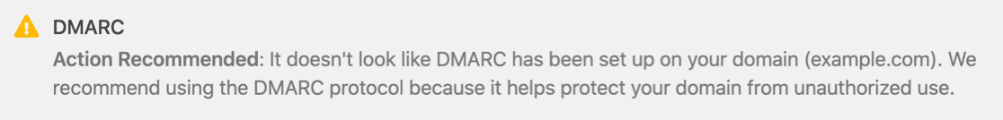 WP Mail SMTP DMARC warning