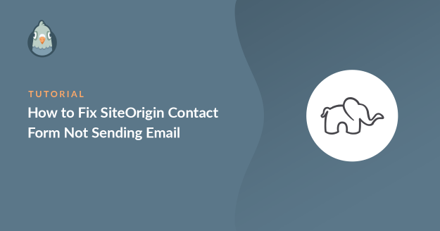 siteorigin contact form not sending email