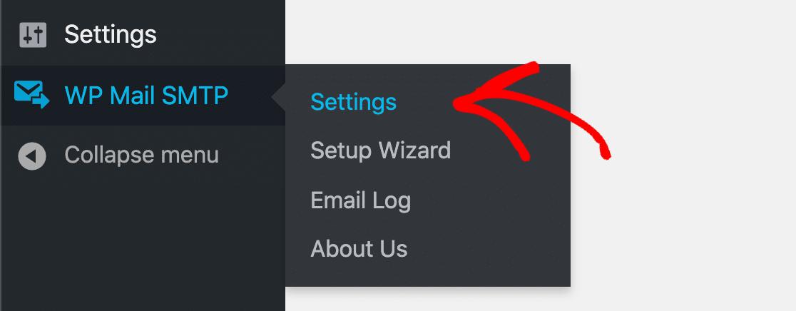 WP Mail SMTP Settings