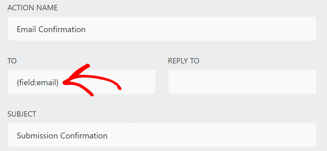 Ninja Forms email confirmation settings
