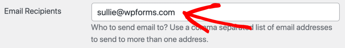 Fix recipient email in Caldera Forms