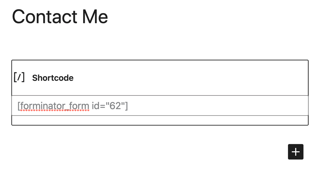 Embed a form in Forminator