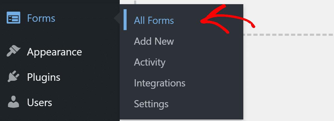 open HappyForms settings