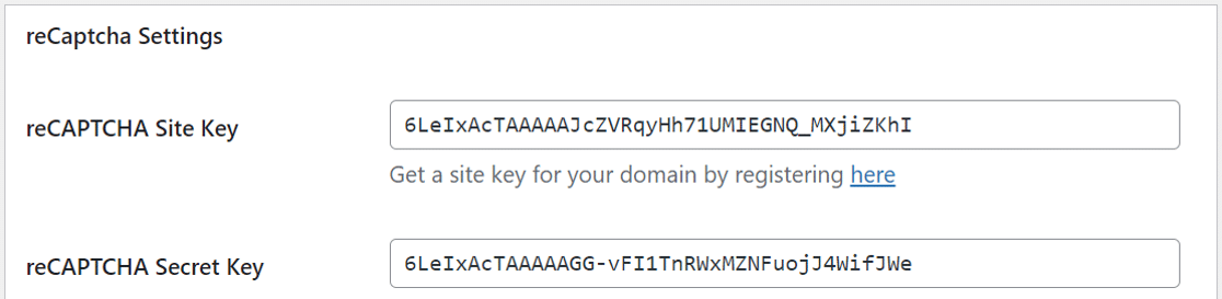 spam protection settings for Ninja Forms