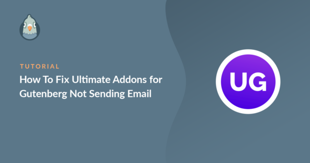 how to fix ultimate addons for gutenberg not sending email