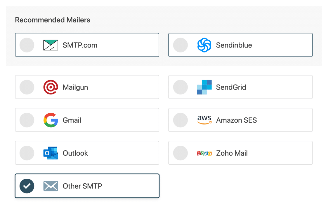 Other SMTP in WP Mail SMTP