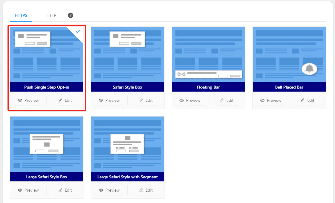 pushengage subscription dialog box
