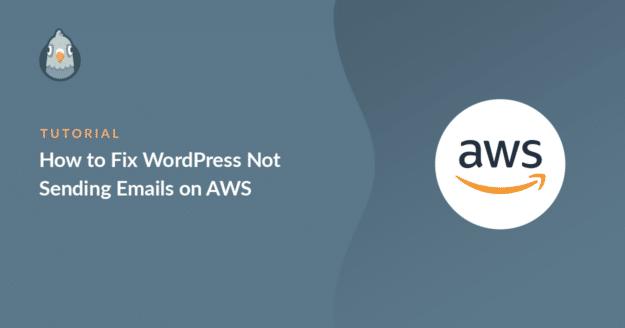 WordPress not sending emails on AWS