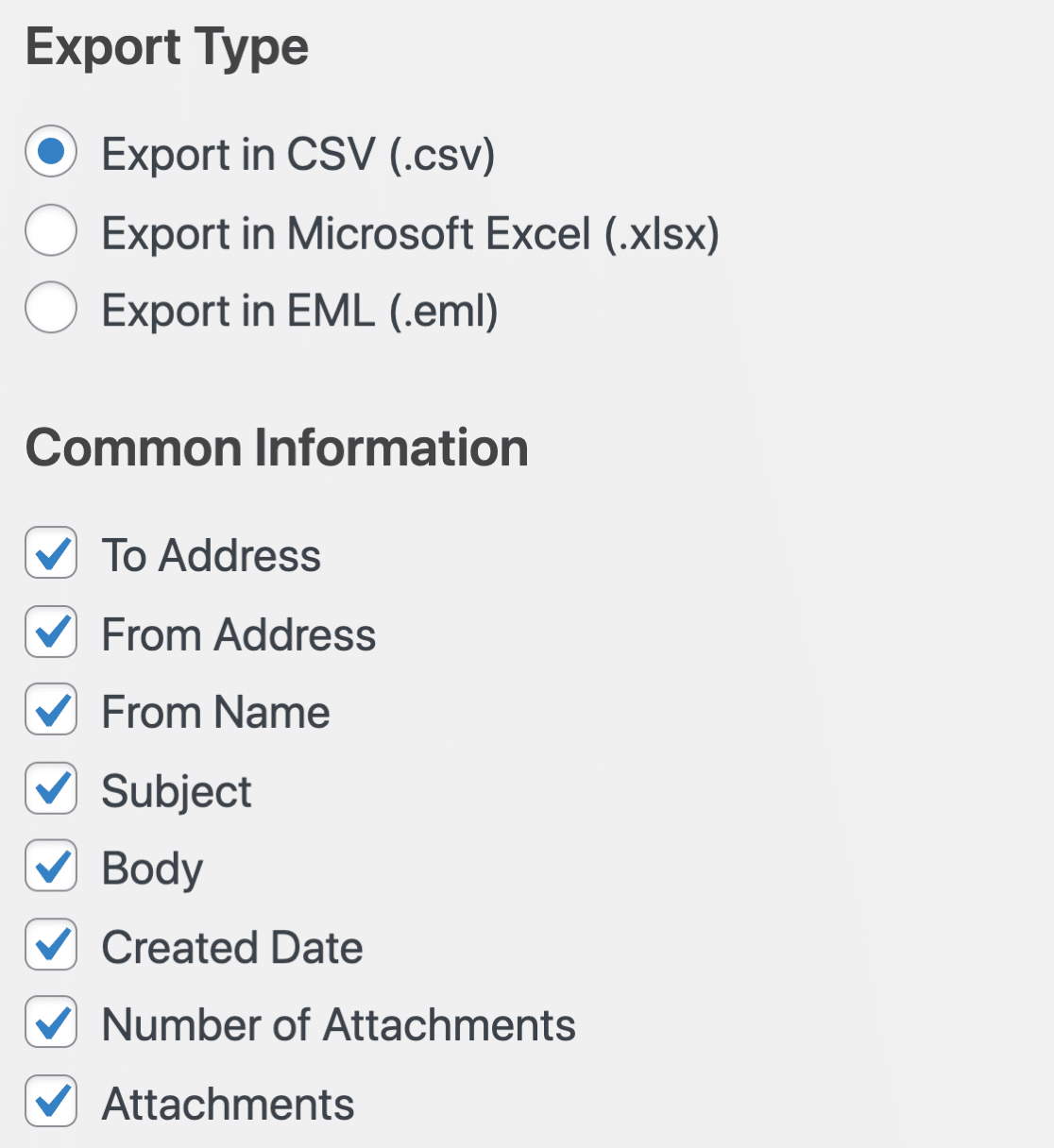 WP Mail SMTP export - common information